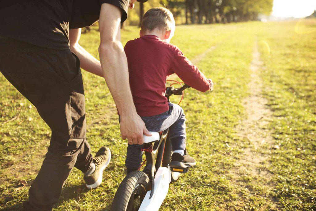 prendre à rouler en vélo